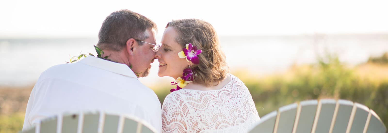 Private home beach side intimate weddings on Kauai